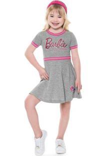 Vestido Barbie Cinza