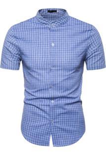 Camisa Xadrez Kingston - Azul Pp