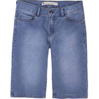 8e9c325fa Bermuda Jeans Feminina Em Algodão Com Barra Regulável