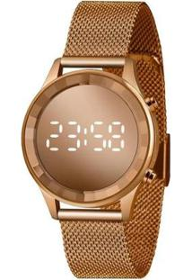 Relógio Lince Feminino Fashion Digital - Feminino-Dourado