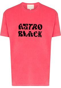 Nicholas Daley Camiseta De Algodão Com Estampa Astro Black - Vermelho