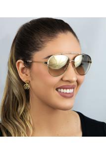 Óculos De Sol Feminino Chloé Ce141S 809 59 Dourado