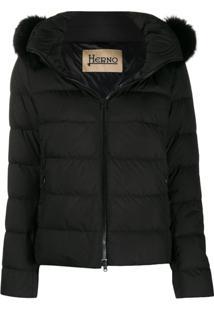 Herno Zip-Front Puffer Jacket - Preto