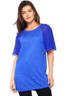 Camiseta Tufi Duek Lisa Azul