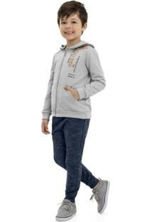Conjunto Infantil Jaqueta E Calça Cinza