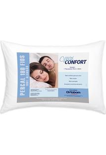 Travesseiro Em Percal Com 180 Fios Max Confort 50X70Cm Branco