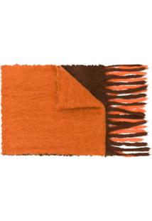Acne Studios Cachecol Oversized Kelow Dye - Laranja