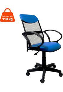 Cadeira De Escritório Diretor Costaneira Ajustável Azul