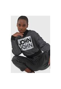 Camiseta John John Logo Grafite