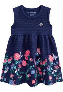 Vestido Bebê Menina Azul Marinho