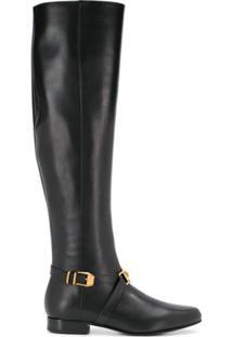 Versace Bota Over The Knee - Preto