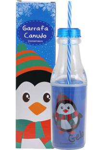 Garrafa Canudo Pinguim Gelado - Zona Criativa