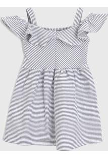 Vestido Brandili Infantil Ciganinha Cinza