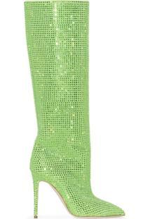 Paris Texas Bota Cano Longo Holly Com Salto 105Mm - Verde