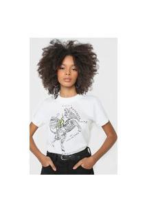 Camiseta Colcci Sinta A Natureza Que Existe Em Você Off-White