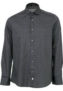 Camisa Aramis Reta Quadriculada Grafite