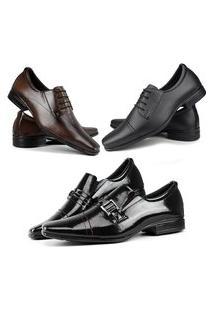 Combo De Três Sapatos Social Masculino La Faire