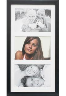 Painel Insta Para 3 Fotos Com Paspatur 18X38Cm Preto