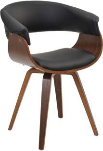 Cadeira Giratória Decorativa Para Escritório Home Office Ohana Pu Preto - Gran Belo