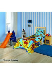 Jogo De Cama Patrulha Canina® Solteiro- Azul Claro & Verlepper