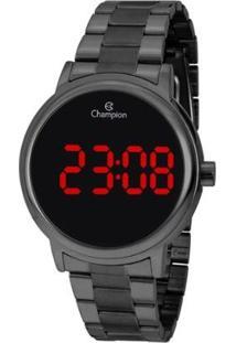 Relógio Champion Digital Ch40115C Feminino - Feminino-Grafite