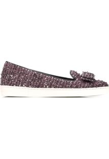 Salvatore Ferragamo Novello Slippers - Roxo