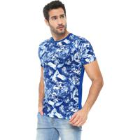 b942cea734 Camiseta Polo Wear Estampada Azul