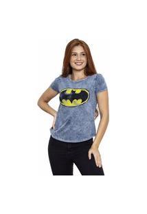 Camiseta Sideway Batman Logo - Azul