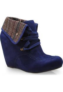 Sneaker Fem Cravo E Canela 131502/3 Dark Azul