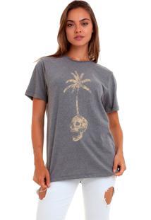 Camiseta Basica Joss Skull Island Chumbo