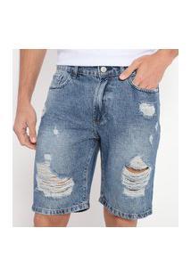 Bermuda Doct Masculina Jeans Rasgos