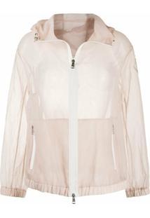 Moncler Jaqueta Transparente Com Capuz - Rosa