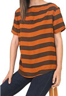 Camiseta Forum Listrada Marrom/Bege - Kanui