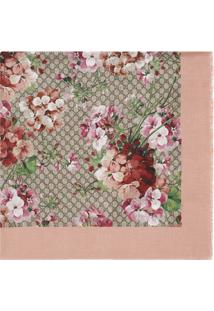Gucci Echarpe Em Seda Modal Com Estampa Blooms - Pink & Purple