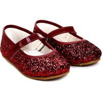 26dc98f7d1 Sapatilha Infantil Pimpolho Glitter Feminina - Feminino-Vermelho