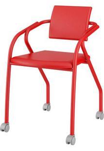 Cadeira 1713 Cor Vermelha Com Napa Vermelha - 26432 - Sun House