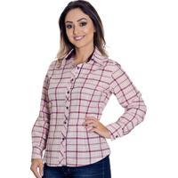 0e318cd9a6 Camisa Pimenta Rosada Xadrez Tessa - Feminino-Vinho+Branco