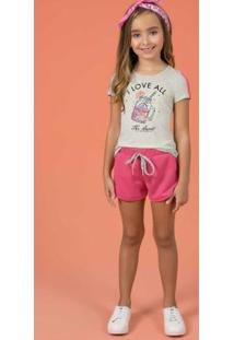 Conjunto Blusa E Short Cinza Cativa Kids
