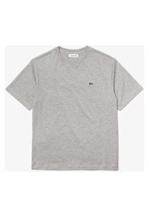 Camiseta Lacoste Regular Fit Cinza