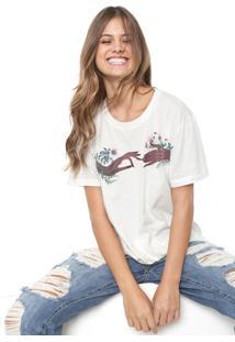 Camiseta Colcci Estampada Off-White