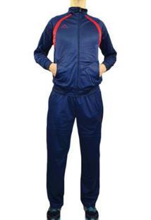 Agasalho Kappa Sportswear Rocca Elanca Masculino - Masculino-Azul Escuro