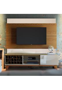Painel Para Tv 60 Polegadas Classic Ii Freijó Com Off White