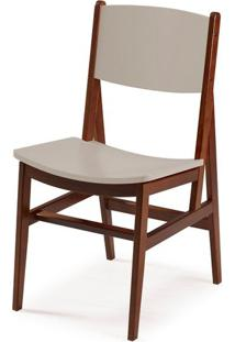 Cadeira Dumon Cor Cacau Com Bege - 30782 - Sun House