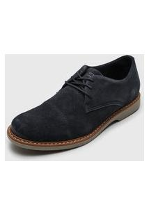Sapato West Coast Camurça Azul-Marinho