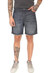 Bermuda Jeans Ellus Slim Estonada Azul