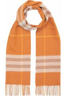 Burberry Cachecol The Classic Check - Laranja