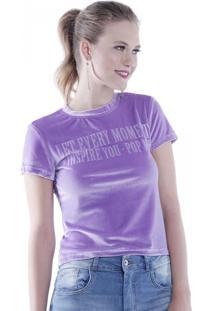 Camiseta Tshirt Veludo Pop Me Roxo