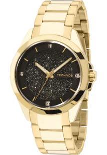 bb8b0762b04 Relógio Technos Crystal Feminino Analógico - 203Aaa 4P 203Aaa 4P - Feminino -Dourado