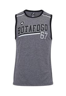 Camiseta Regata Do Botafogo Feed - Masculina - Cinza/Preto