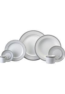 Aparelho De Jantar, Chá E Café Porcelana Schmidt 28 Peças - Dec. Aline